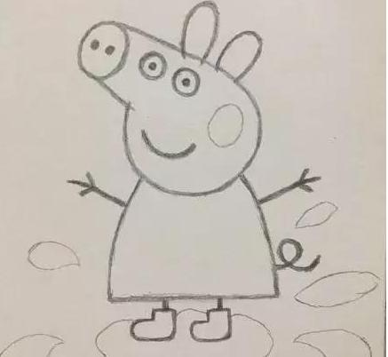 小豬佩奇簡筆畫