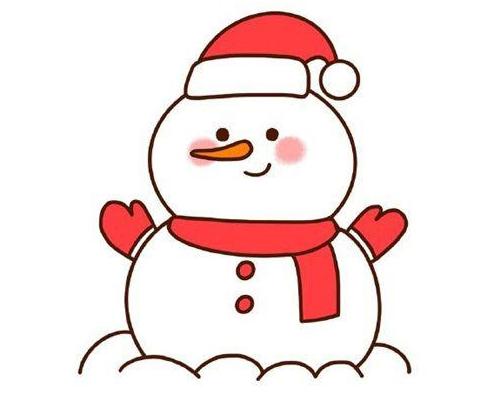 雪人簡筆畫