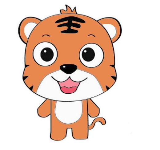 老虎簡筆畫