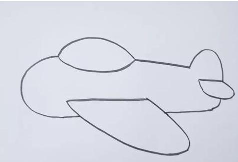 飛機簡筆畫