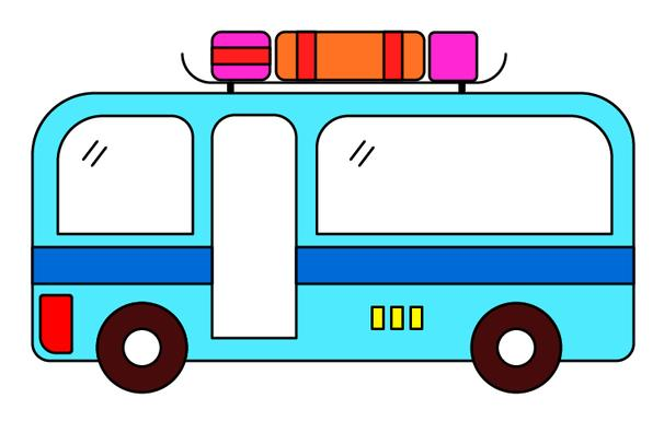 公共汽車簡筆畫