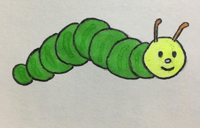 毛毛蟲簡筆畫