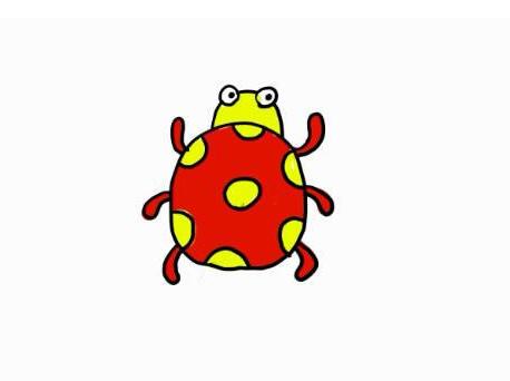 七星瓢蟲簡筆畫