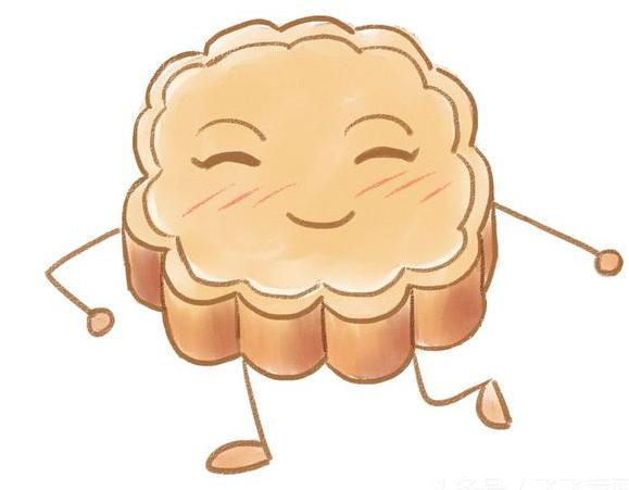 月饼的简笔画