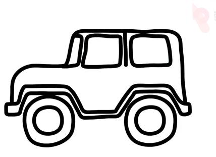 吉普车简笔画