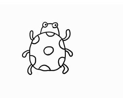 七星瓢虫简笔画
