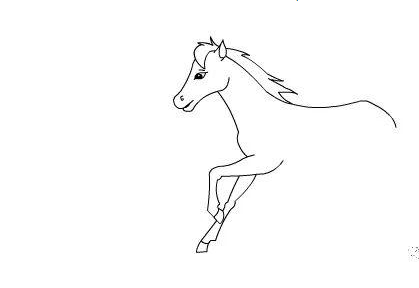 馬的簡筆畫