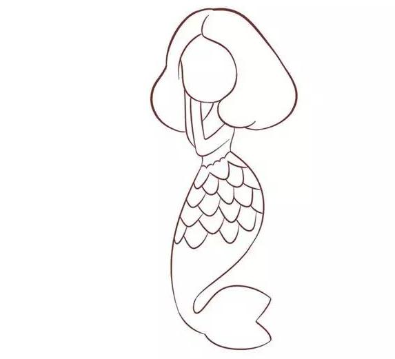 美人鱼简笔画