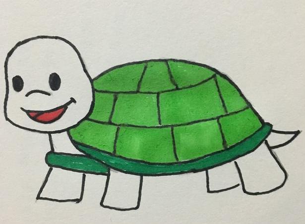 烏龜簡筆畫