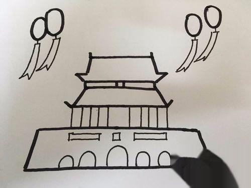 北京天安簡筆畫