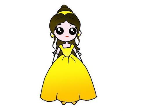 貝兒公主簡筆畫