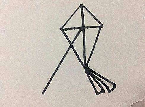 風箏簡筆畫