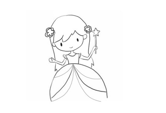 靈公主簡筆畫
