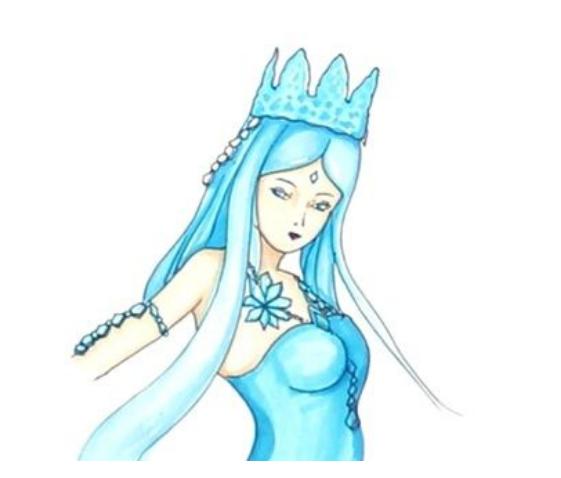 冰公主簡筆畫