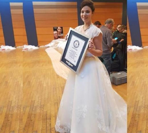 世界上最长的婚纱