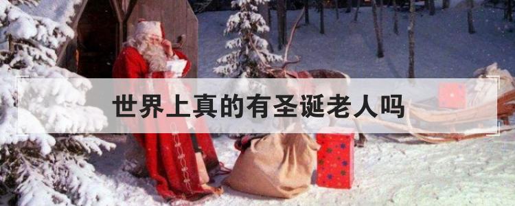 世界上真的有圣誕老人嗎