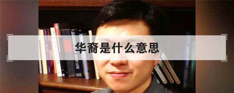 华裔是什么意思