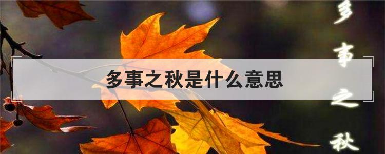 多事之秋是什么意思-传奇3私服