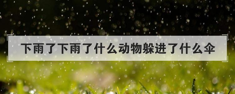 下雨了下雨了什么动物躲进了什么伞