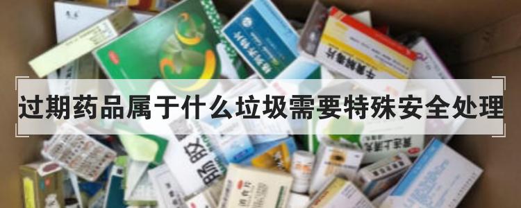 过期药品属于什么垃圾需要特殊安全处理