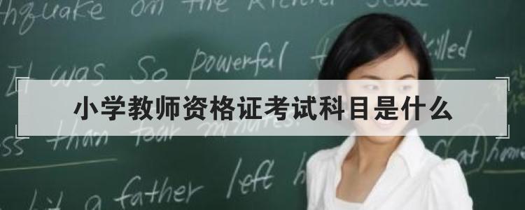 小学教师资格证考试科目是什么