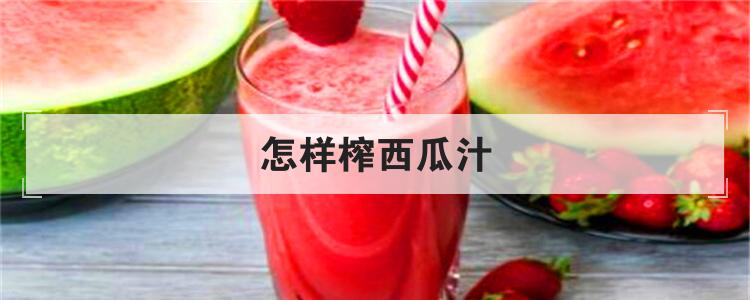 怎样榨西瓜汁
