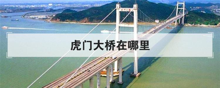 虎门大桥在哪里