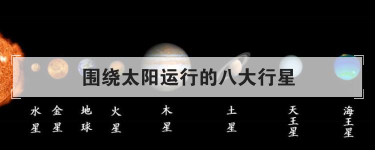 围绕太阳运行的八大行星