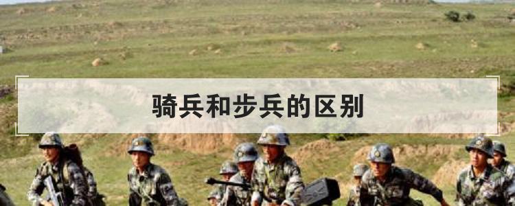 骑兵和步兵的区别