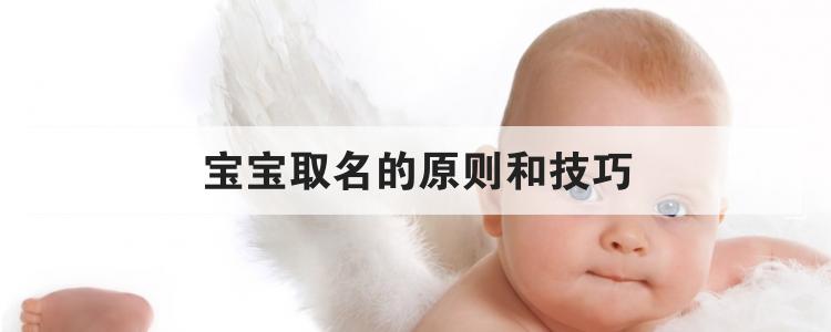 寶寶取名的原則和技巧