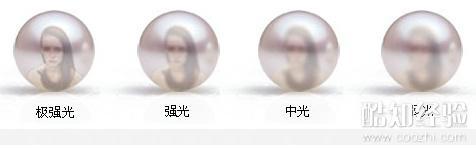 珍珠的光泽对比