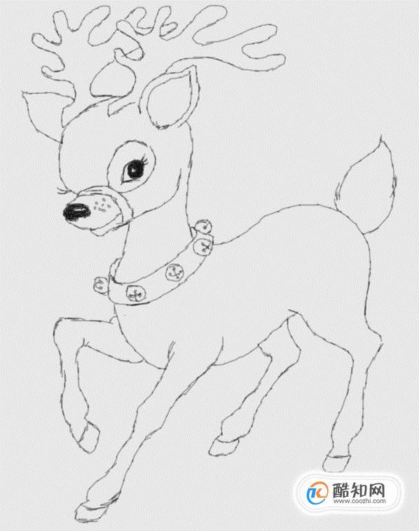 简笔画圣诞老人的驯鹿是怎么画的优质