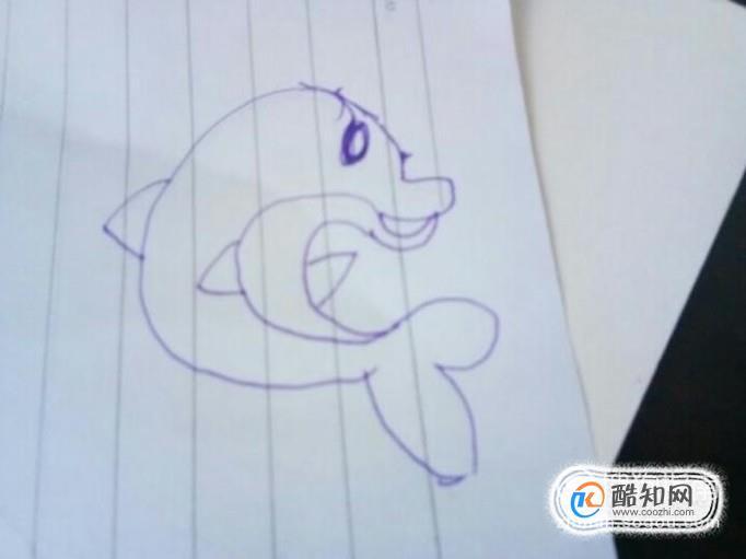 小朋友会喜欢很可爱的小海豚,那么简单的小海豚怎么画呢?