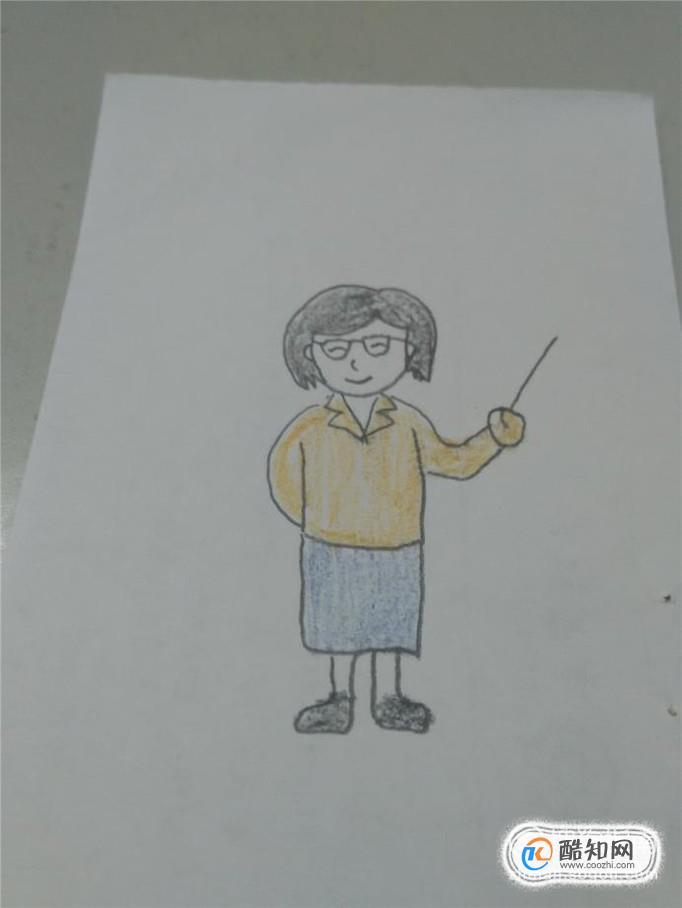 怎样画出教师的形象_简笔画怎么画我的老师?_酷知经验网