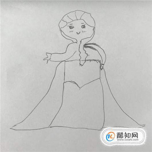 冰雪奇缘艾莎公主简笔画的画法优质