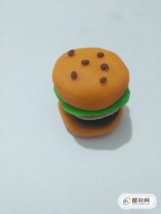 粘土手工制作图片汉堡