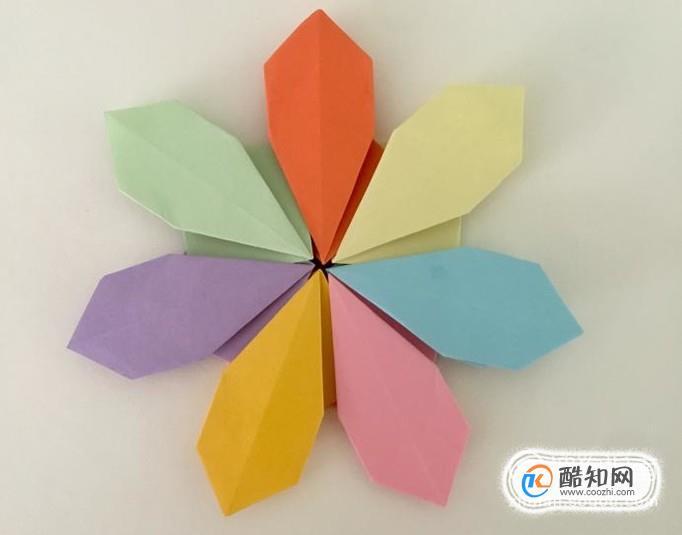 儿童手工折纸七叶花 简单的花朵折纸步骤图解优质