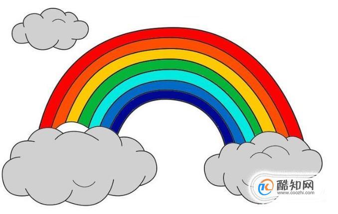 彩虹简笔画怎么画 酷知经验网