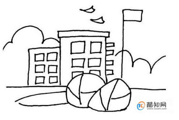 学校简笔画怎么画
