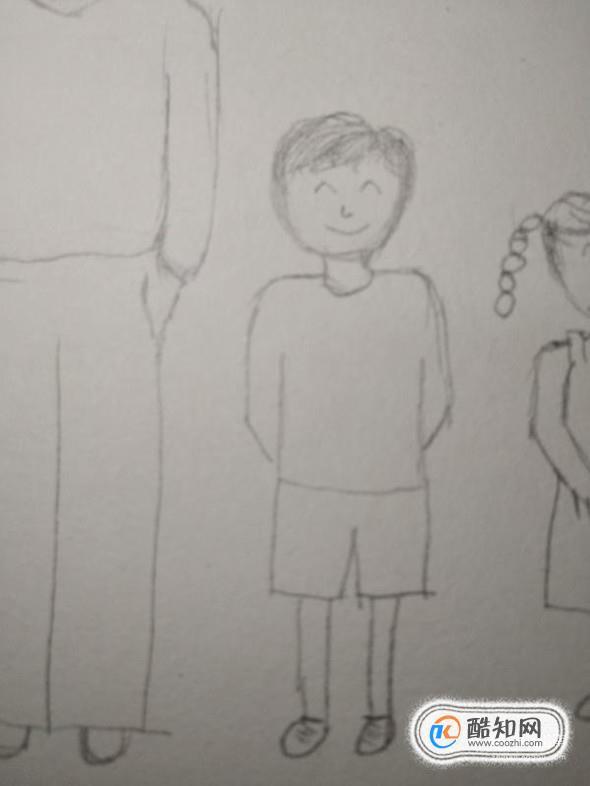 一家四口简笔画怎么画优质图片