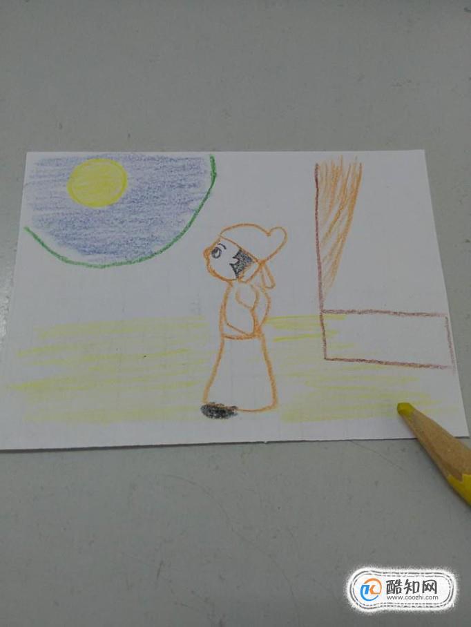 静夜思古诗配画简笔画怎么画优质