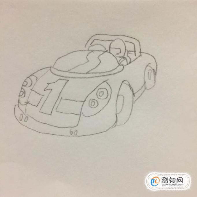 最后,我们在车内画出一个大概的赛车手的轮廓就可以了.你学会了吗?图片