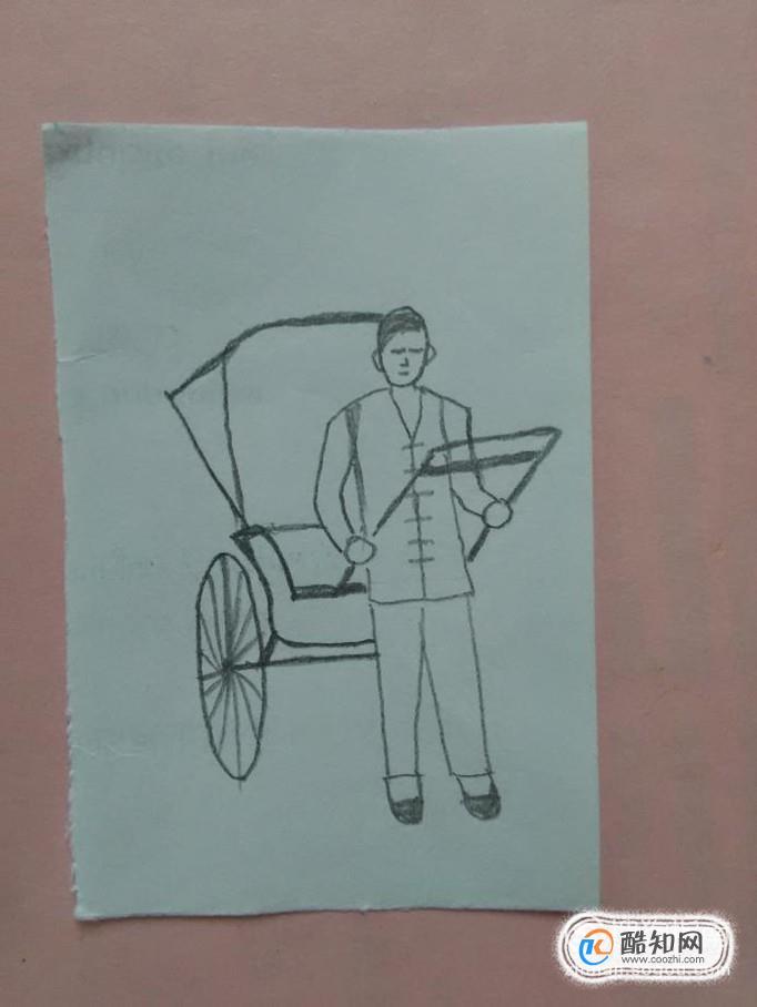骆驼祥子拉车简笔画怎么画