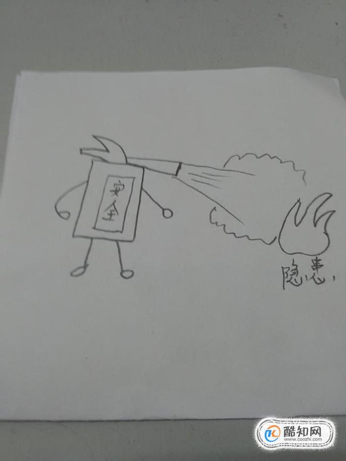 消防安全漫画简笔画