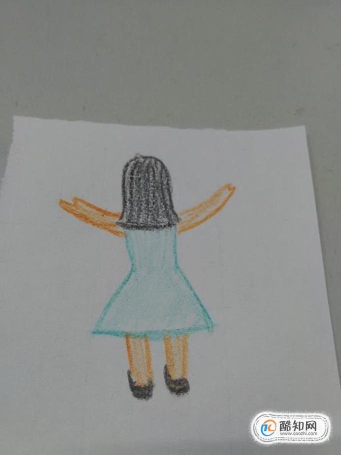 长发女孩背影简笔画怎么画优质