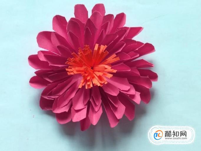 彩纸手工制作花朵的方法优质