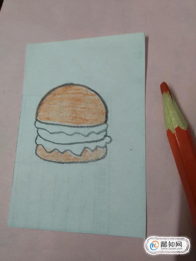 汉堡简笔画怎么画 汉堡的画法优质