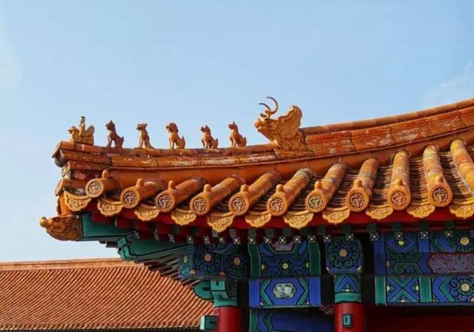 中国屋脊上的神兽都叫啥?