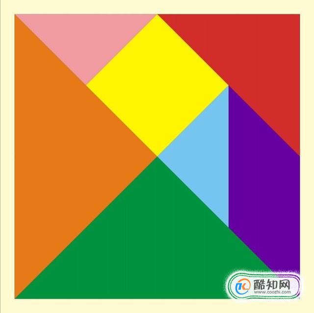 怎么用七巧板拼正方形