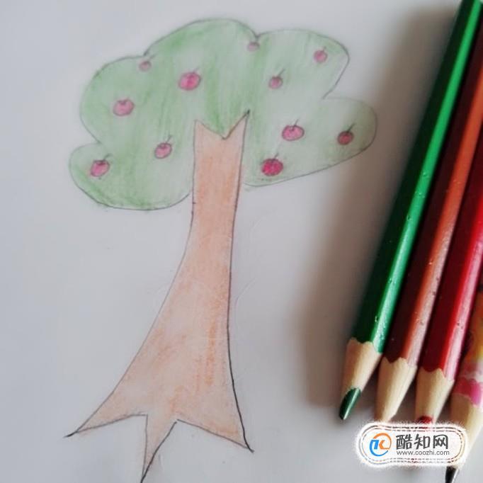 苹果树简笔画怎么画